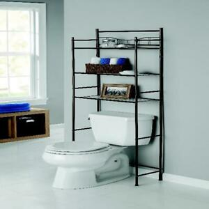 Over the Toilet Bathroom Organizer 3 Shelf Metal Space Saver Towel Storage Rack