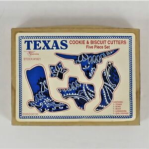 Texas Imagineering Texas Cookie and Biscuit Cutters 5 Piece Set Preowned in Box