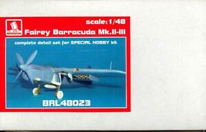 Brengun Models 1 48 FAIREY BARRACUDA Mk.II Complete Resin & PE Update Set
