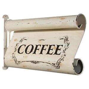 New Shabby Chic Rustic Primitive Vintage COFFEE CAFE SIGN Two Sided Hanging