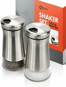 KIBAGA Elegant Salt and Pepper Shakers With Adjustable Pour Holes New