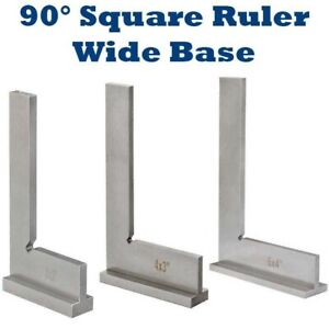 Hardened Steel 90 degree Angle Square Ruler Wide Base Measuring Work 3quot; 4quot; 6quot; $19.99