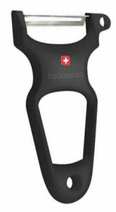 TOOLSWISS Clasinox Stainless Steel Blade Vegetable-Potato Peeler - Black - Swiss