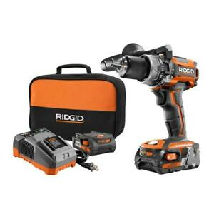 Cordless 12 Compact Hammer Drill Kit 18-V Lithium-Ion W 2 Batteries   $217.99