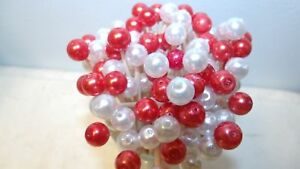 Red White Pearl Christmas Mix Toothpick Wedding Dinner Party Food Picks Dessert