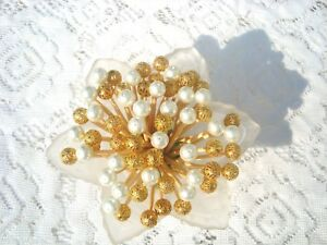 Gold White Pearl Toothpicks Wedding Christmas Dinner Party Food Picks Appetizer