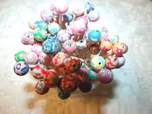Flower Fimo Clay Toothpicks Wedding Christmas Dinner Party Food Picks Appetizer
