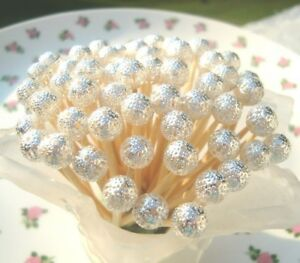 Silver Beads Toothpicks Wedding Christmas Dinner Party Food Pick 25 Anniversary