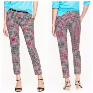 J.CREW COLLECTION Cafe Capri Ankle Crop Kaleidoscope Dot Chino Dress Pants US 8
