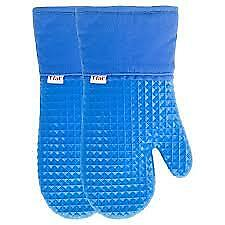 Silicone oven mitts extra long, 14.7