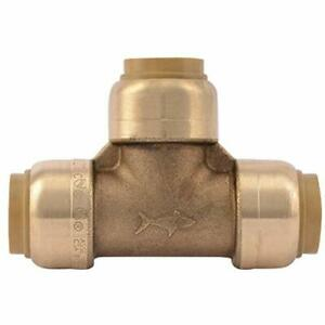U362LFA Tee Plumbing Pipe Connector 12 In PEX Fittings Push-to-Connect CPVC  $17.75
