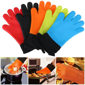 Silicone Oven Gloves Grilling Gloves Baking Gloves Heat Resistant Kitchen BBQ DO