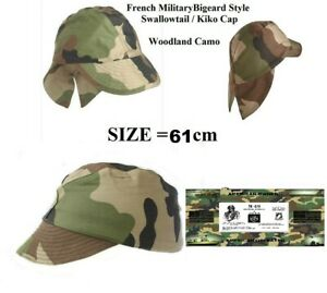 Authentic Original French Military CEC Camo Combat Swallowtail Field Cap SIZE 61 $8.99