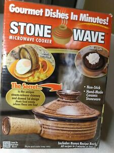 Stone Wave Microwave Cooker As Seen On TV Gourmet Dishes In Minutes Recipe Book