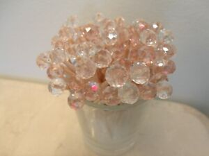 Pink Clear Crystal Toothpicks Wedding Christmas Dinner Party Food Picks