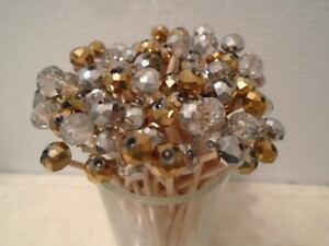 Gold Silver Crystal Toothpick Christmas Wedding Dinner Party Food Pick Dessert