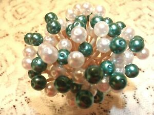 Green White Pearl Christmas Mix Toothpick Wedding Dinner Party Food Pick Dessert