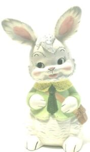 Easter Bunny Rabbit Large 13quot; Tall Ceramic Centerpiece $19.99