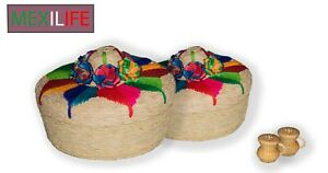 Mexican Palm Tortilleros.Mexican Tortilla and Pancake Warmer.(4 pack)