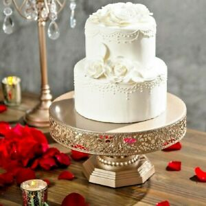 Wedding Cake Stand Champagne Color Metal 12