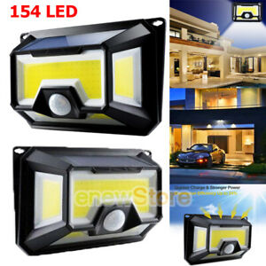 1000LM 154 COB LED Solar Wall Light Outdoor Garden Security Lamp Motion Sensor