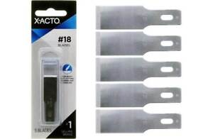 #18 X ACTO X218 Heavy Weight Chiseling Knife Blades 5pc $6.99
