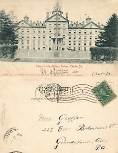 CHESTER PENNSYLVANIA MILITARY COLLEGE 1904 UNDIVIDED ANTIQUE POSTCARD $13.99