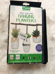 Crayola Signature Make Your Own Hanging Planter Kit Damaged Box Open Box
