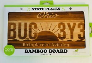 Bamboo Board State Plates Ohio BUC 3Y3 11quot; x 0.6quot; x 5.4quot;