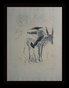 DALI Don Quixote amp; Sancho Panza Sancho Panza Hand Signed Dali Archives Certified $10500.00