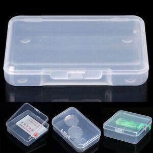 Mini Clear Plastic Small Box Hook Jewelry Earplugs Container Storage Organizer $5.19