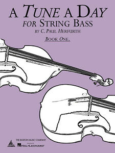 A Tune a Day String Bass Book 1 for Beginner Learn How to Play Music Lessons