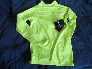 Girls S NIKE Pro Dri Fit hyperwarm series swoosh Brand New SMALL lime Shirt Top $10.00