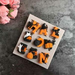 Halloween Letters Silicone Sugar Craft Mold Cupcake Decor Fondant Cake Mould SJ