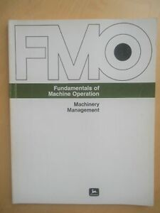 JOHN DEERE Fundamentals of Machine Operation Book Machinery Management FMO