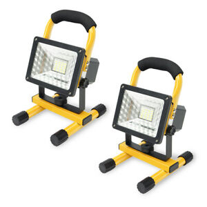 2 x 15W 24 LED Portable Spotlight Flood Work Light Rechargeable Floodlight Lamp