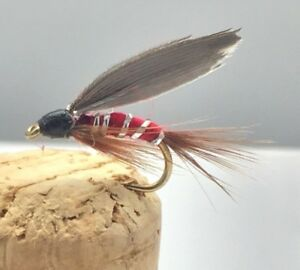 Fly Fishing PRIME Collection RED SPINNER Wet fly pack Size 10 12 pack of 12