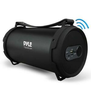 Pyle PBMSPG7 Portable Bluetooth Wireless BoomBox Stereo System Rechargeable Bat.