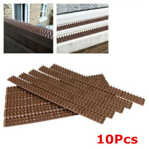 10Pcs Anti Climb Spikes Fence Wall Security Spike Bird Cat Repellent Thorn Strip