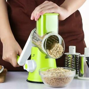 Multi function Drum Rotary Grater Manual Coleslaw Cheese Vegetable Slicer Cutter