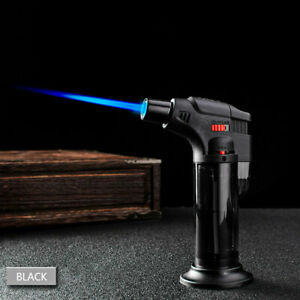 Butane Lighter Torch Refillable Adjustable Flame Lighter Chef Cooking