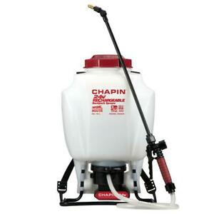 4 Gal 24V Battery Powered Backpack Sprayer Lithium-Ion Rechargeable Garden Water