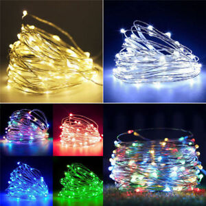 20//50/100 LED String Fairy Lights Copper Wire Battery Powered Waterproof New US