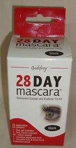 Godefroy 28 Day Mascara BLACK Permanent Eyelash Tint Kit Contains 25 Application