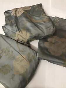 3 SFERRA EURO SHAMS EGYPTIAN COTTON JACQUARD FLORAL ITALY LUXURY
