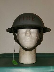 WW 2 1939 ROYAL NAVY Mk II FIRE HELMET. COMPLETE LINER CHINSTRAP