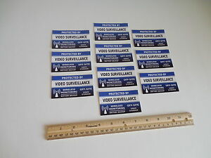 10 Video Surveillance Security System Window Decals Stickers - Stock # 718
