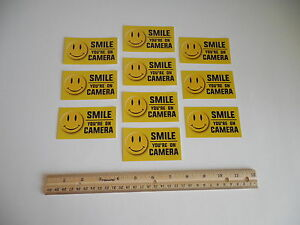 10 Smile You're On Camera Video Surveillance Window Security Stickers  #721