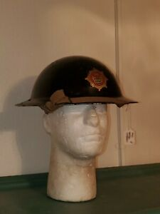 WW 2 ISLE of ELY Mk II FIRE DEPARTMENT HELMET. COMPLETE LINER CHINSTRAP