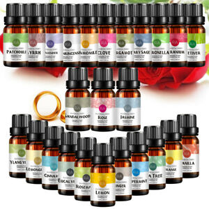 RA Essential Oils Set,100% Pure Therapeutic Grade Aromatherapy Oils kit,10ml Set
